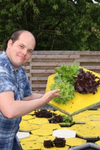 Salat im Raft