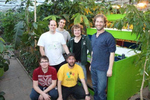 Team im Tropenhaus